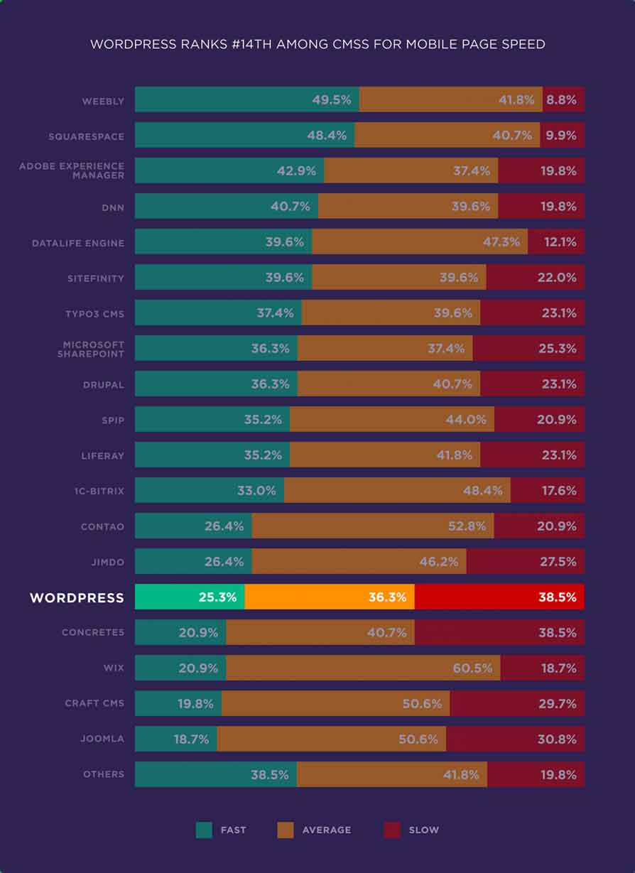 wordpress pagespeed ranking