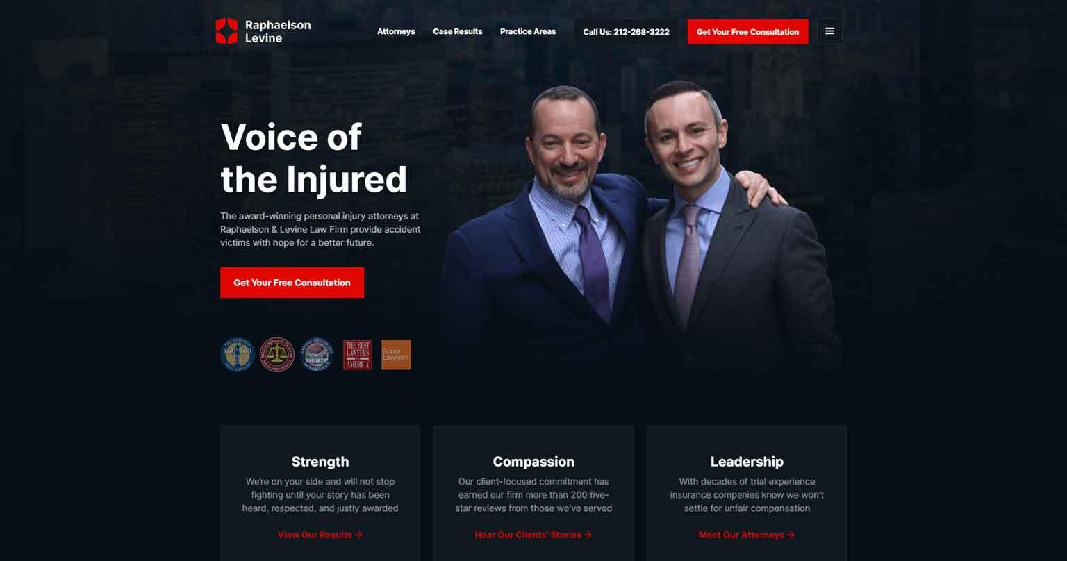 lawyer website example #1