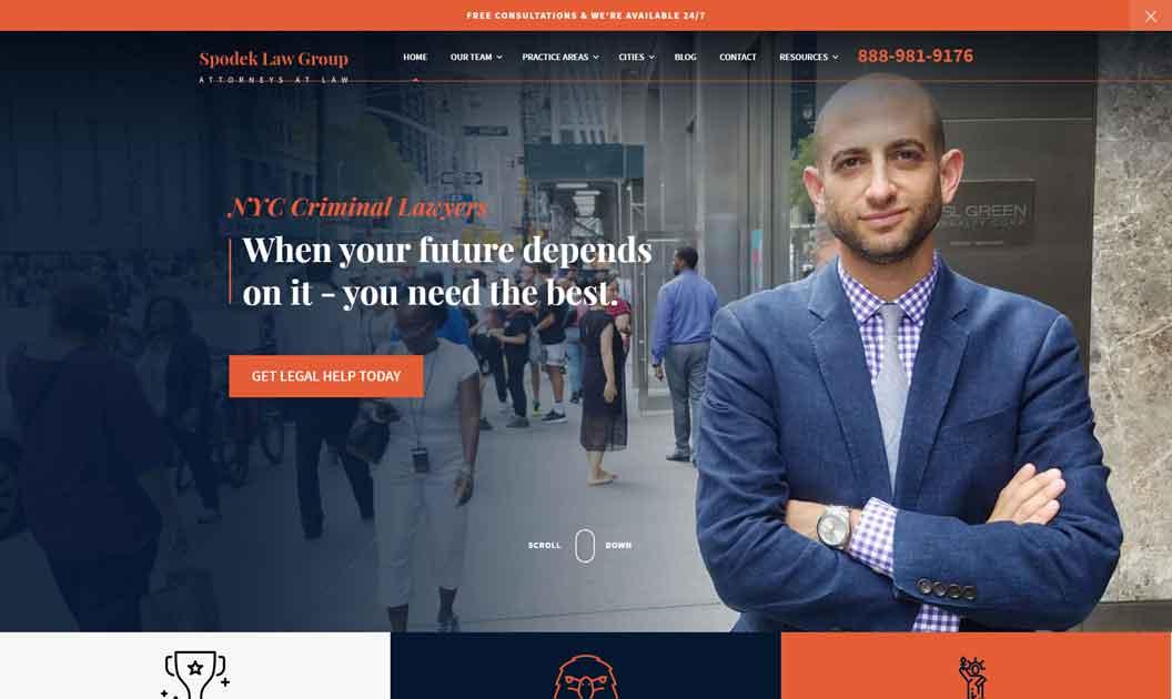 attorney website homepage example 2