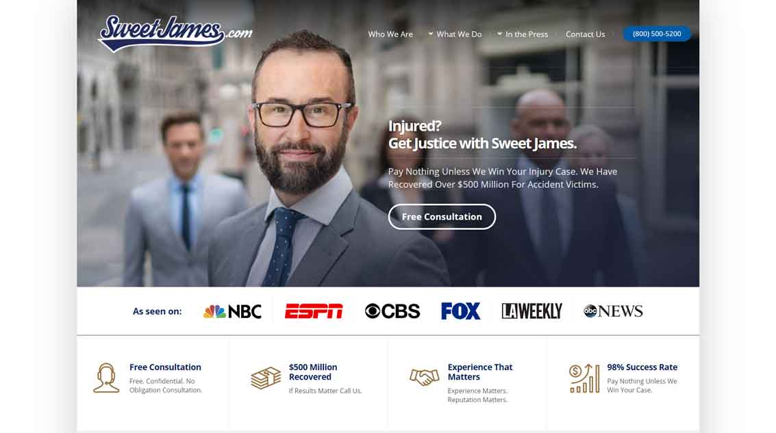 example lawyer website 3