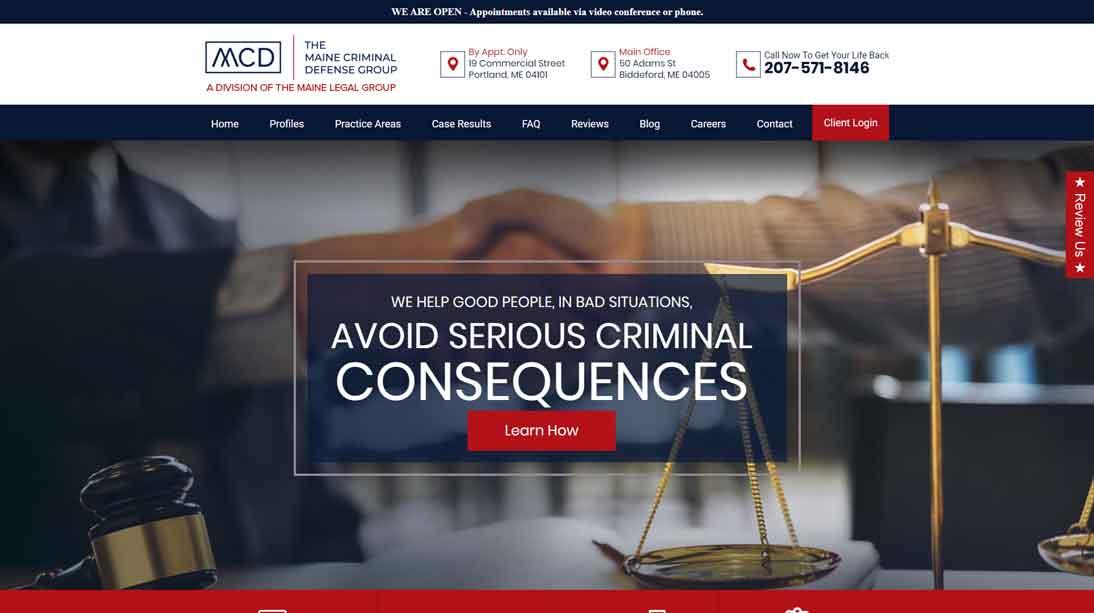 attorney homepage example website 6