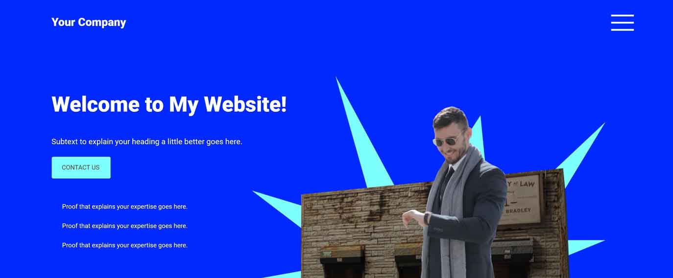 welcome to my website example