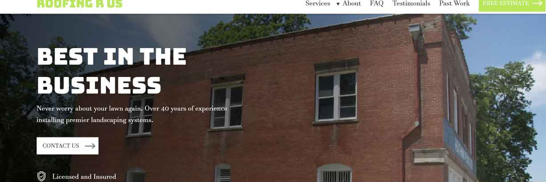 vague website headline