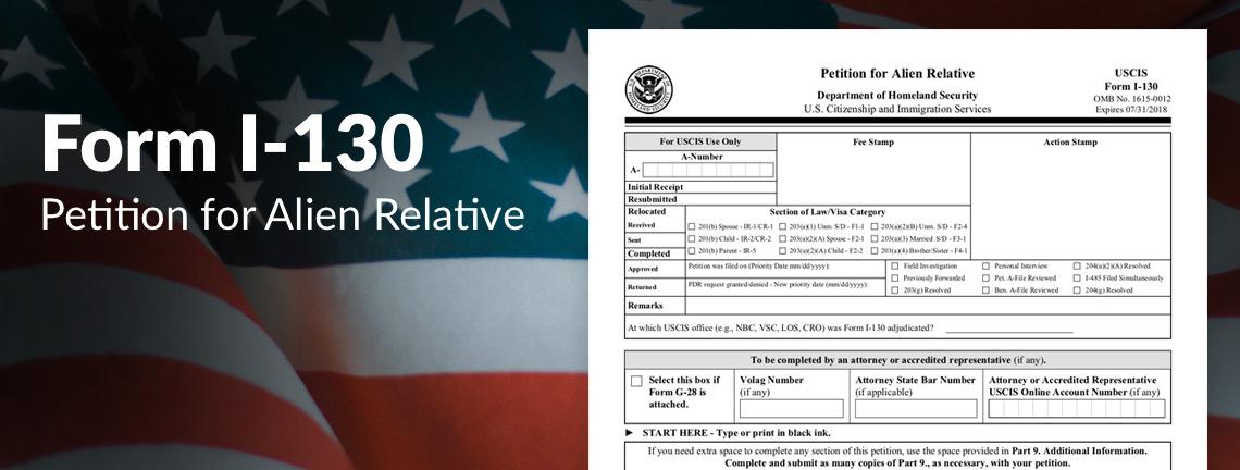 Form I-130 không thể thiếu trong hồ sơ bảo lãnh di trú Mỹ