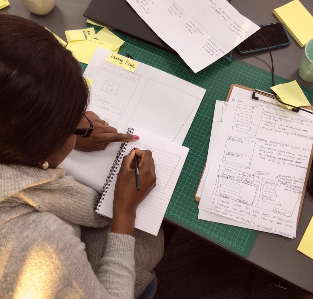 Design Sprint note taking
