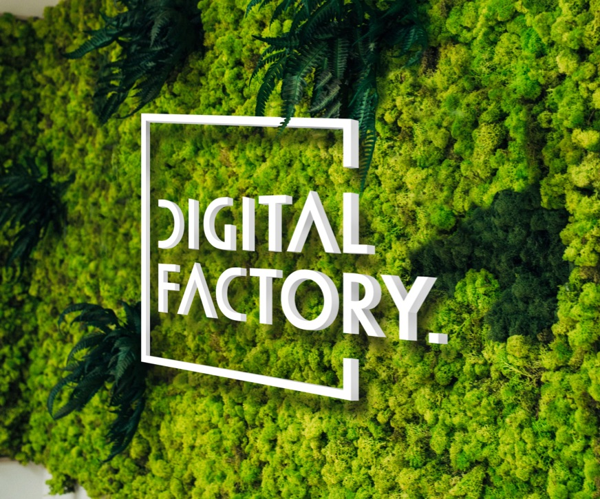 Digital Factory Logo Living Wall