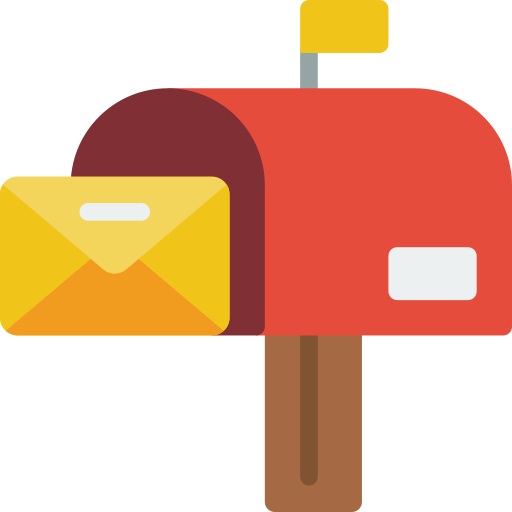 An icon of a letter being posted in a mailbox