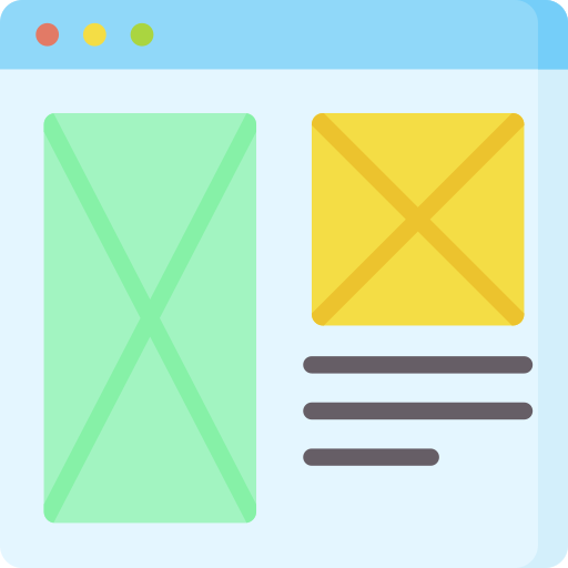 Icon of website wireframes