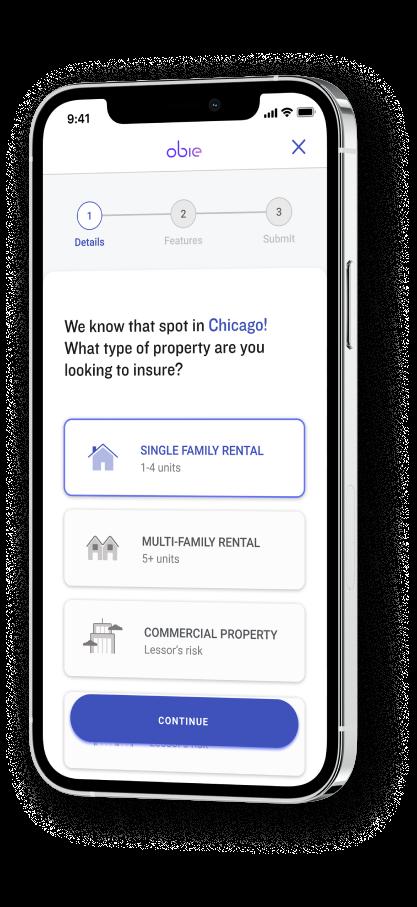 Obie Landlord Insurance App