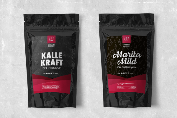 Markenentwicklung, Corporate Design - Luwu Kaffeewelt