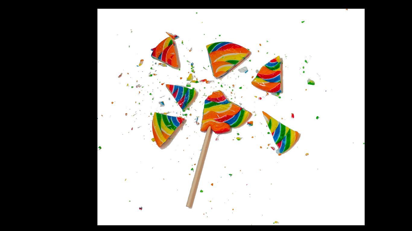 Broken lollipop dreams