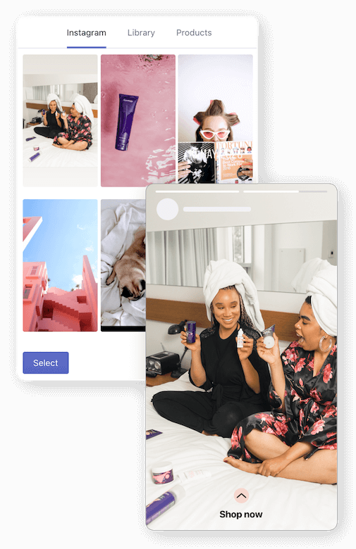 Embed Instagram stories on your store