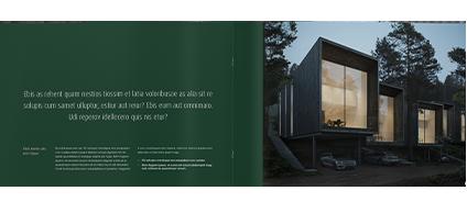 Verkaufsbroschüre erstellt mit Print on Demand für Immobilienfirmen