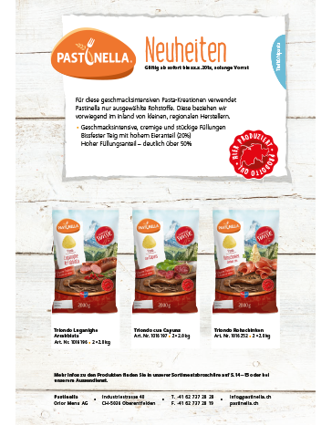 Pastinella Werbeflyer