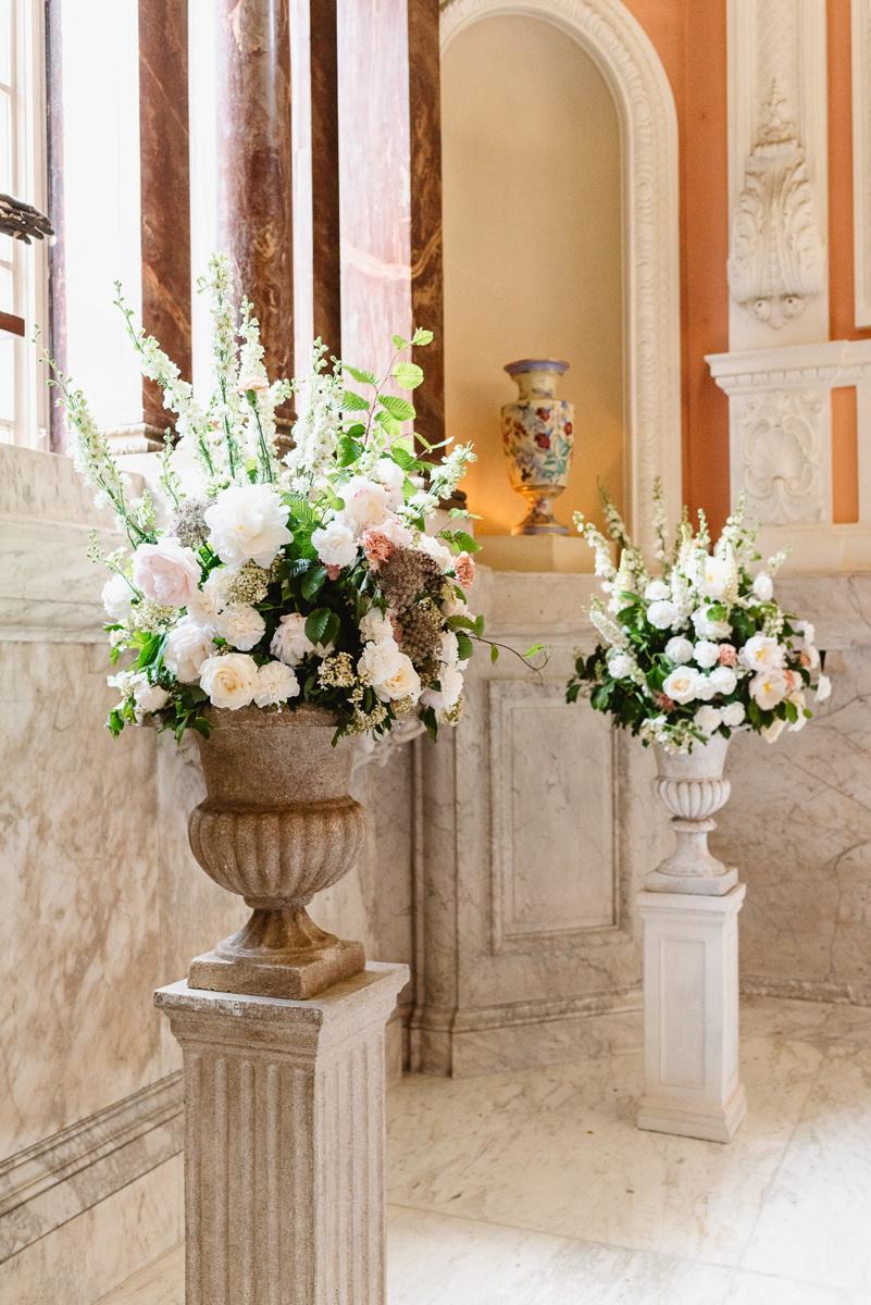 Tall wedding centrepieces in Dartmouth House
