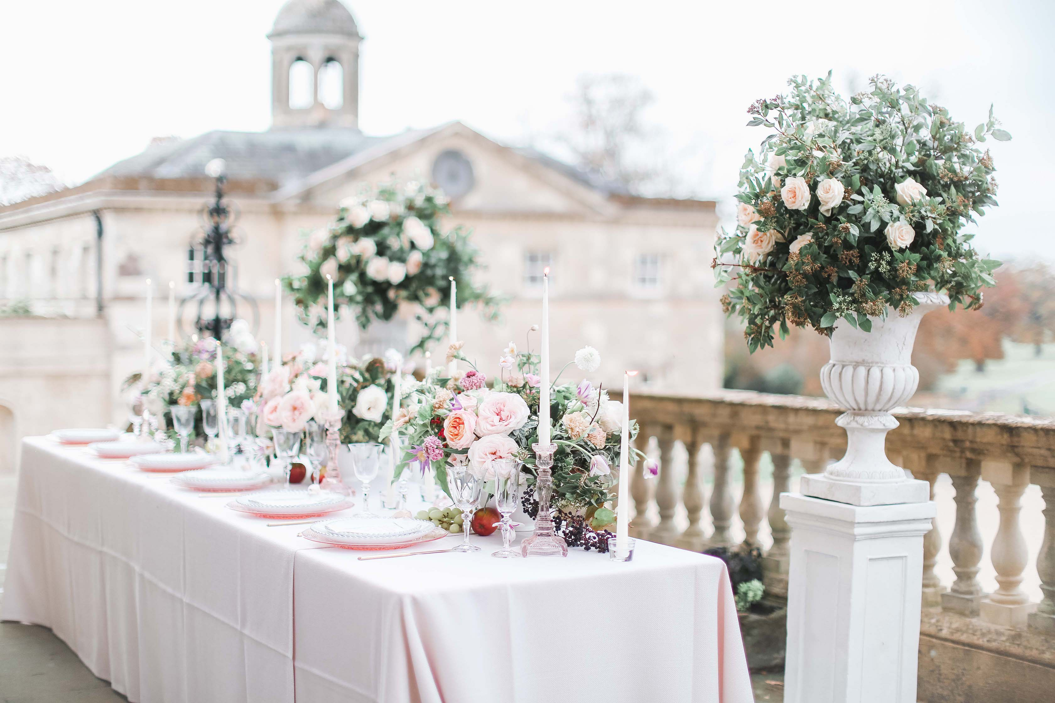Japanese Roses Table Centrepieces