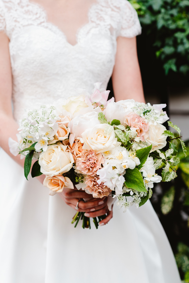 Modern Symmetrical Loose Wedding Bouquet
