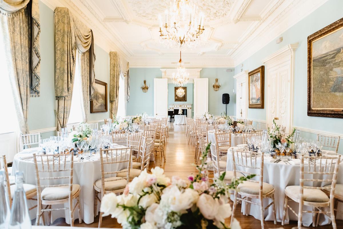 Wedding breakfast room in Dartmouth House