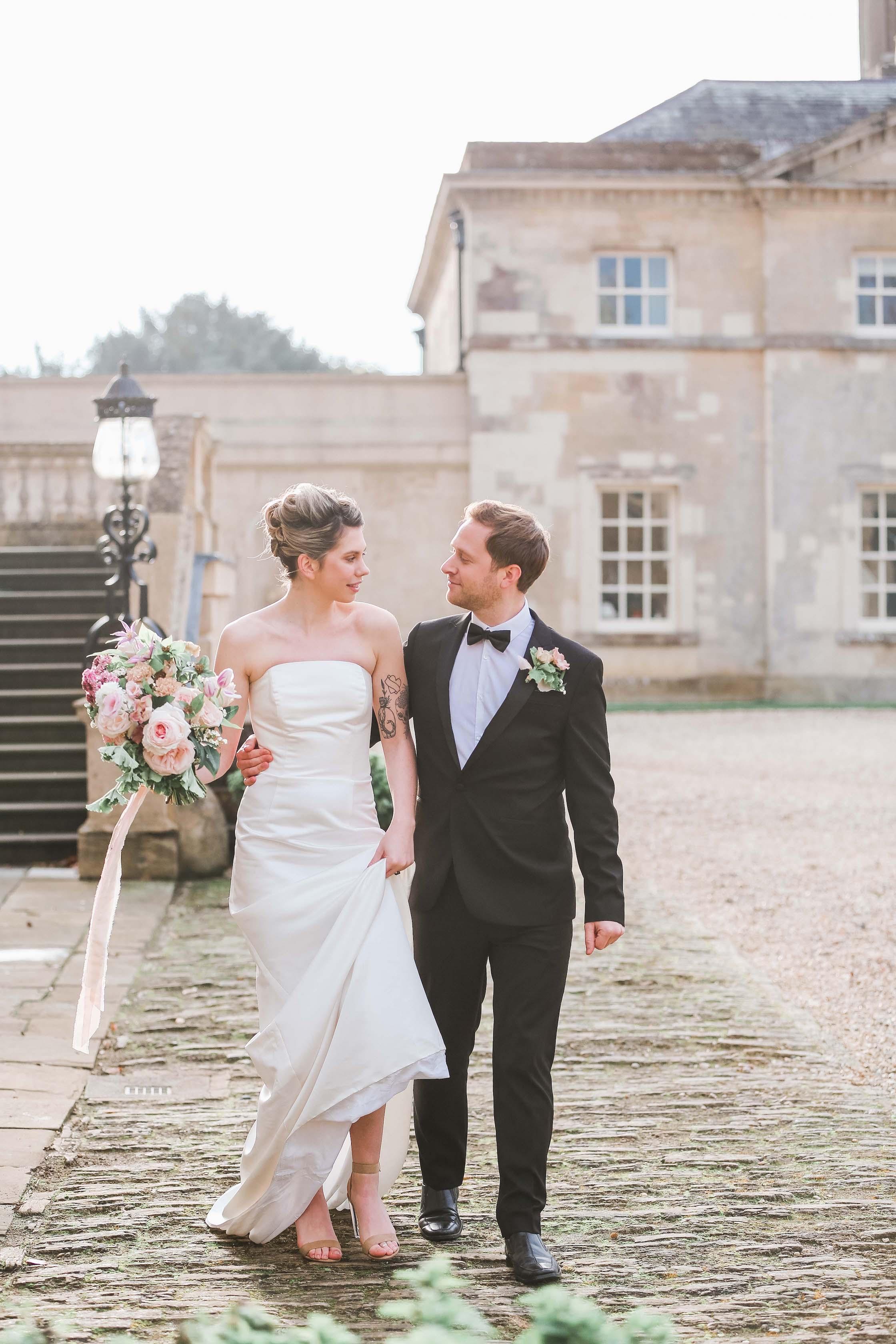 Bride and Groom Wedding Flowers