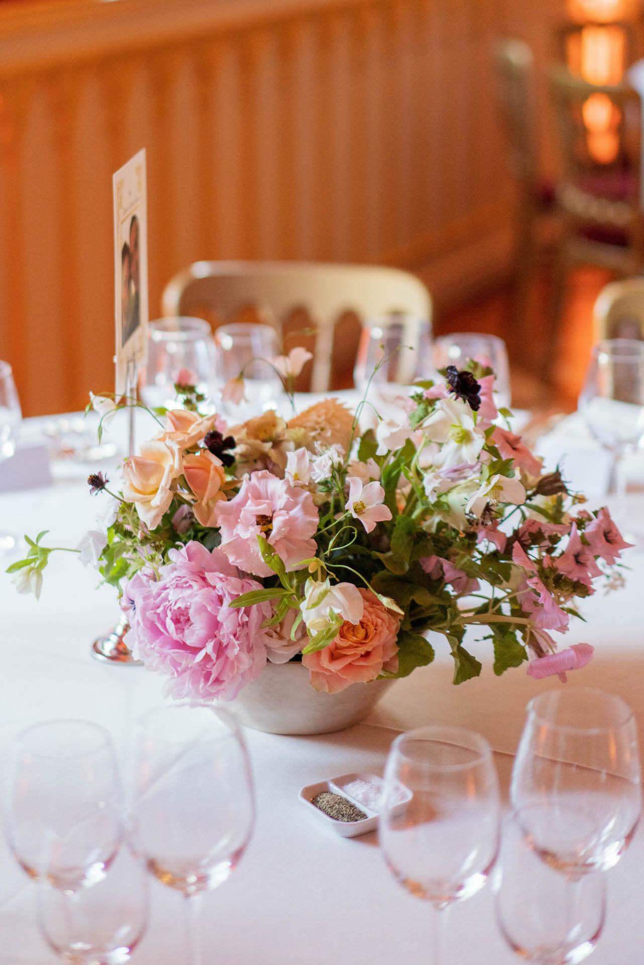 Summer Wedding Flowers Centrepiece