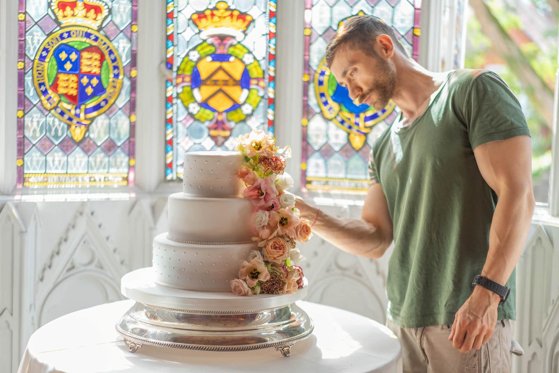 Cascading Wedding Cake Floral Design