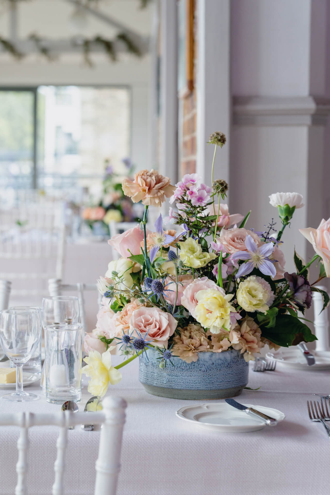Thames Rowing Club Wedding Table Centrepiece