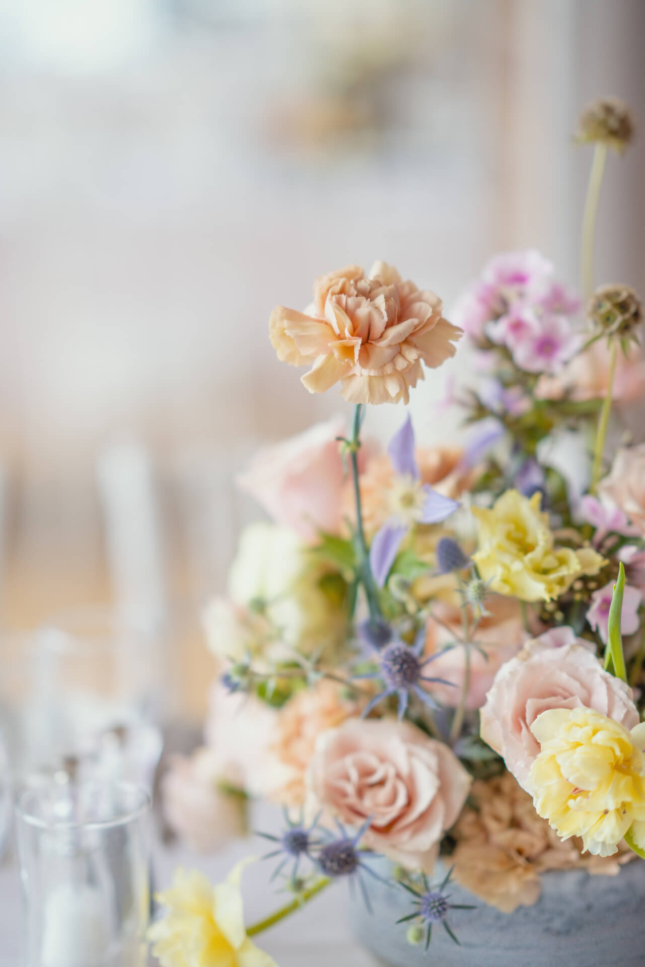 Thames Rowing Club Wedding Flowers Centrepieces