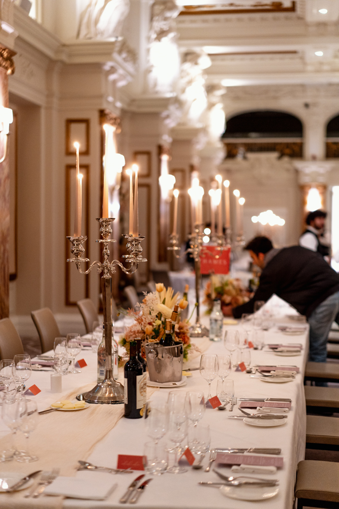 Candelabras And Flowers