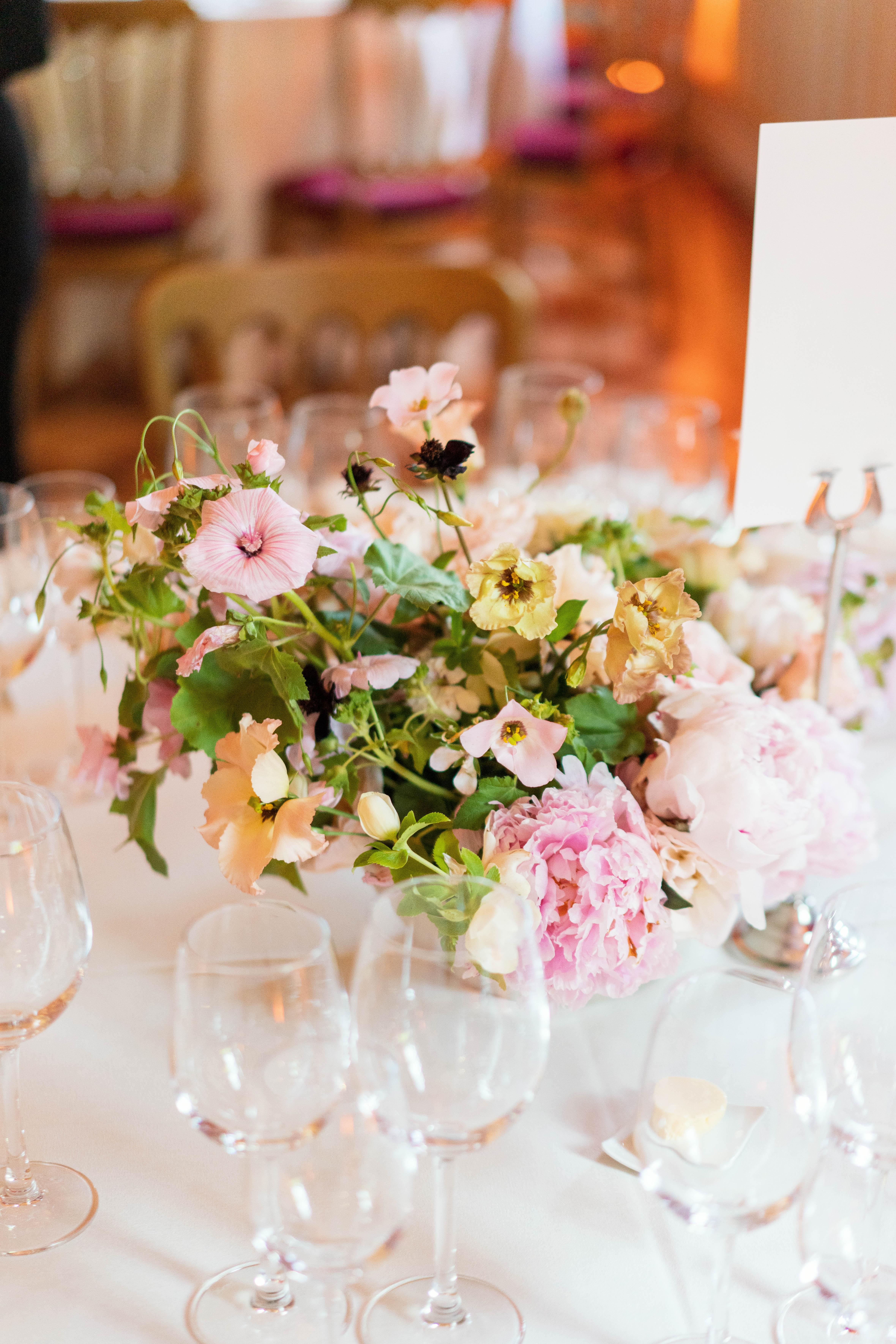 Wild and Romantic Peony Table Arrangement