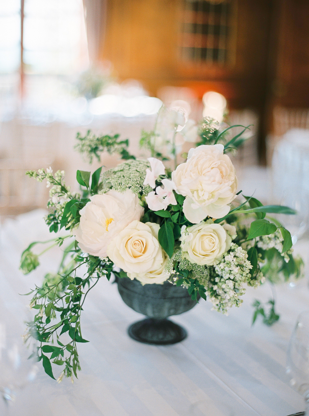 Rose Wedding Table Centrepiece in Hedsor House