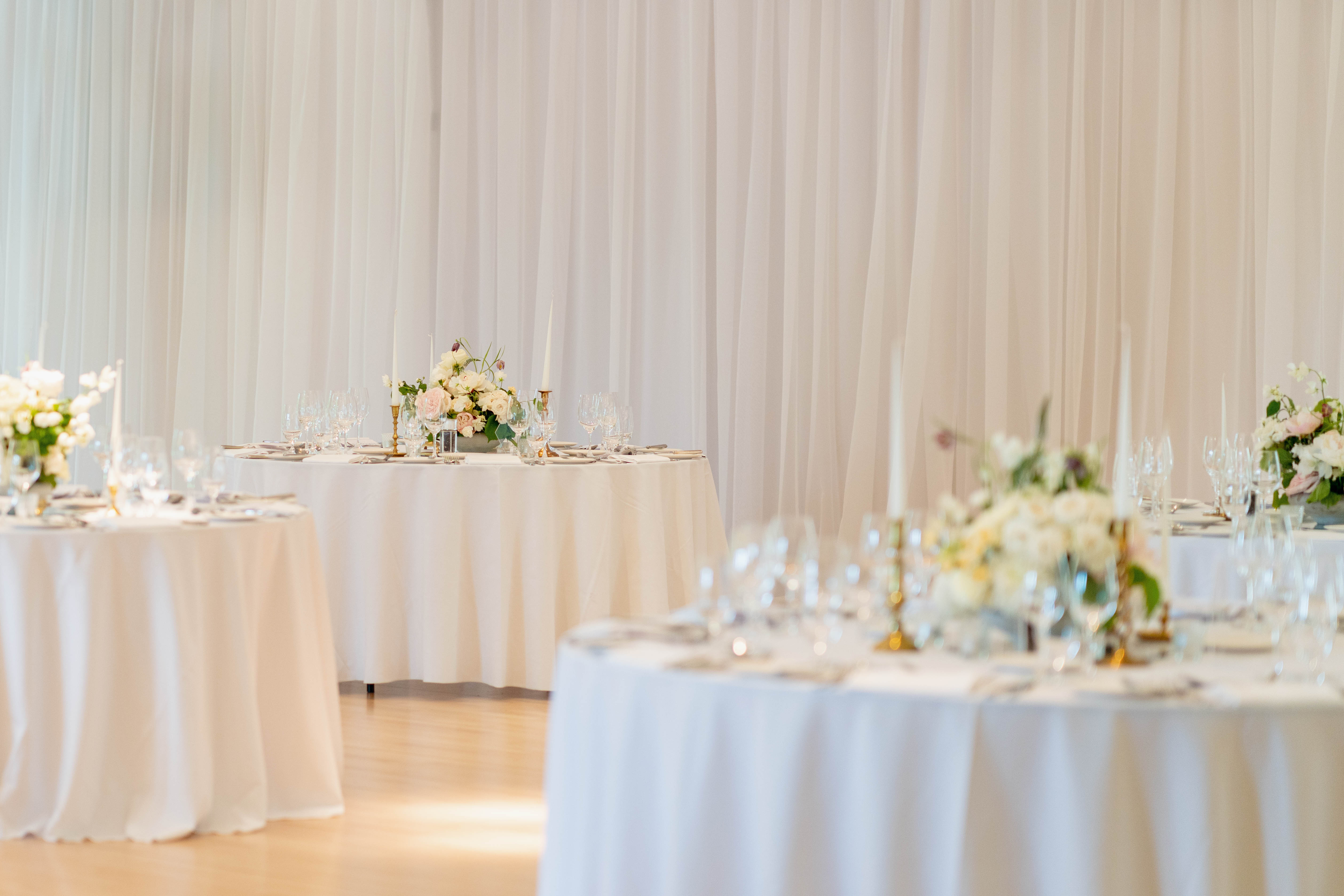 Wedding Tables With Flower Arrangements from Blooming Haus - Wedding Florist London