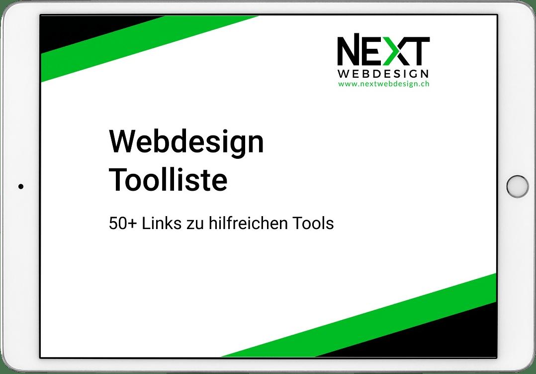 Webdesign Toolliste Vorschau