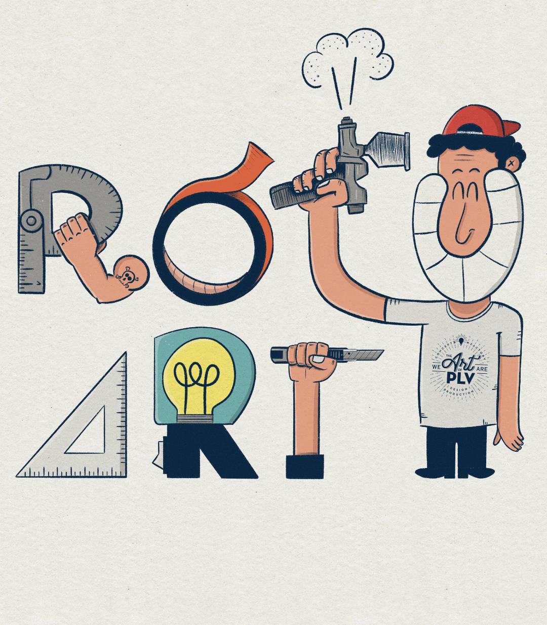 ilustración con el texto ROTUART