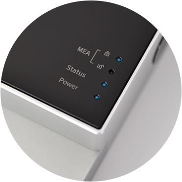 BioCAM Duplex - LED and touch button interface