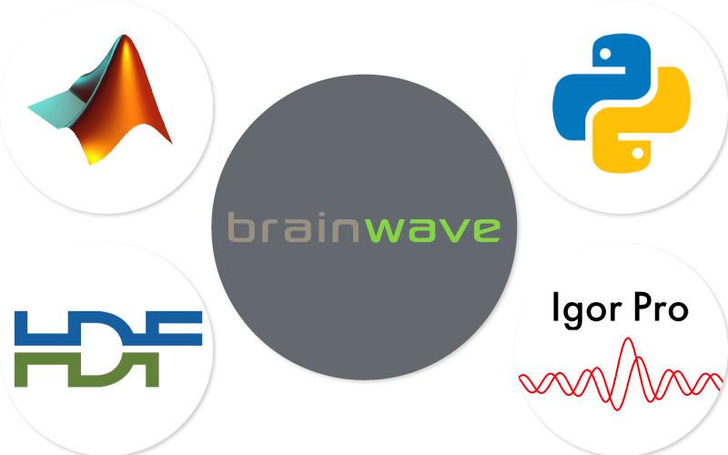 the HDF5 file format of BrainWave  is fully compatibile with third-party softwares - 3Brain