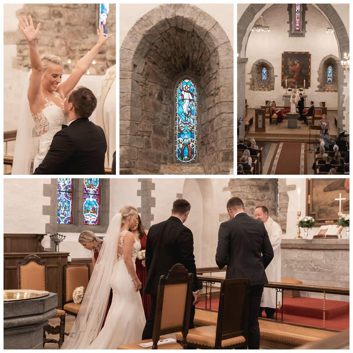 fana kirke innvendig vielse bryllup brudepar brud brudgom