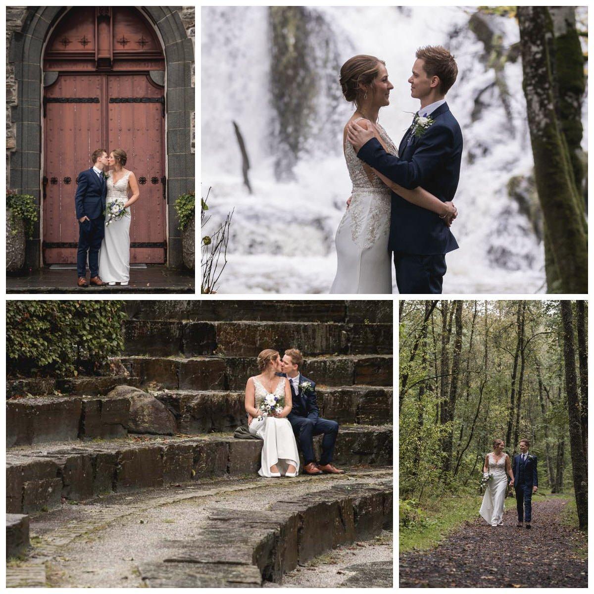 fana kirke kirkedør foss amfi kulturpark fanakulturpark brudepar brud brudgom