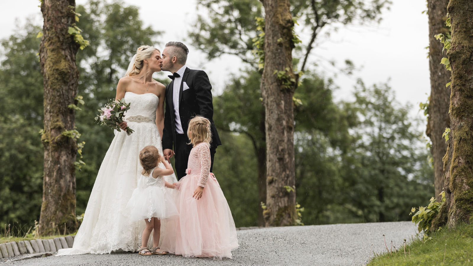 Her kan du lese om hvordan en bryllupsdag er med heldagsfotografering.