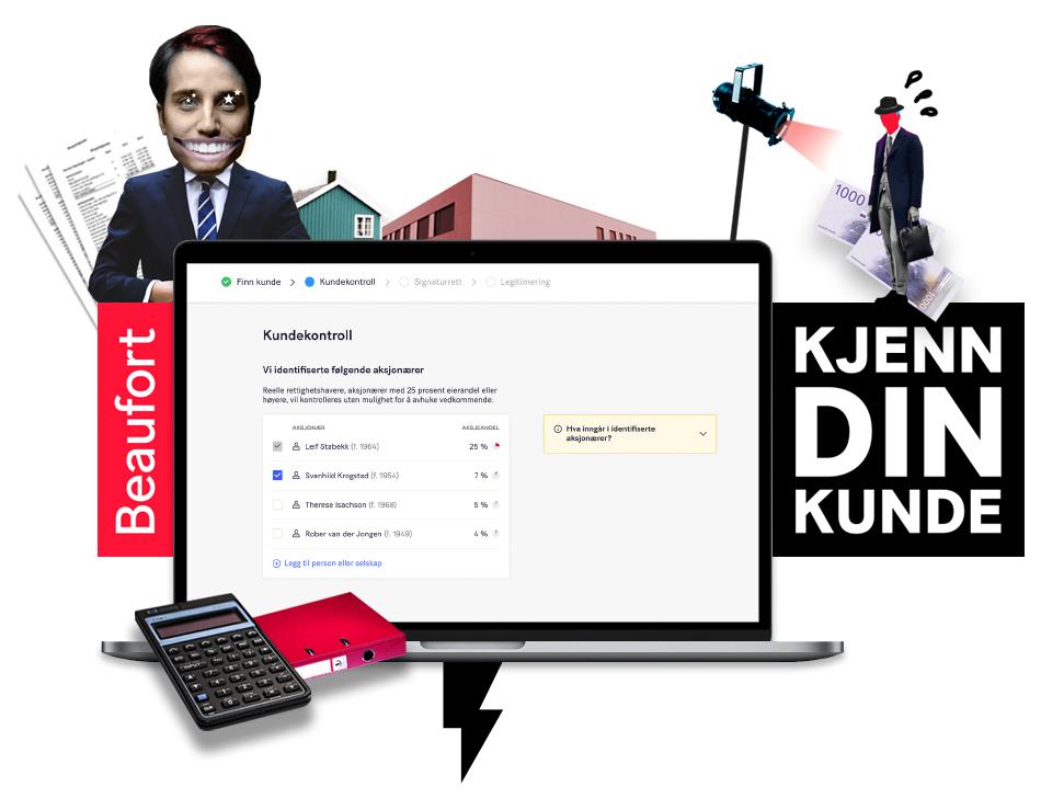 Visualisering av Beaufort Solutions tjeneste Kjenn Din Kunde på en Mac