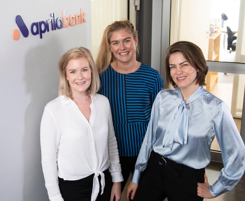 Bilde av den fantastiske support-avdelingen til Aprila Bank