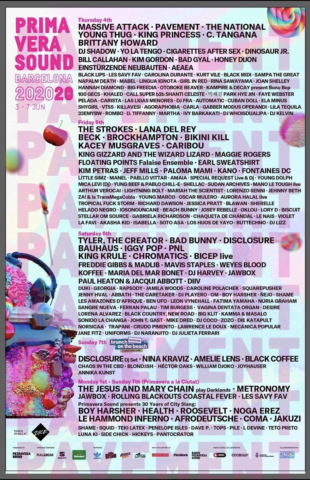 Image result for primavera sound 2020