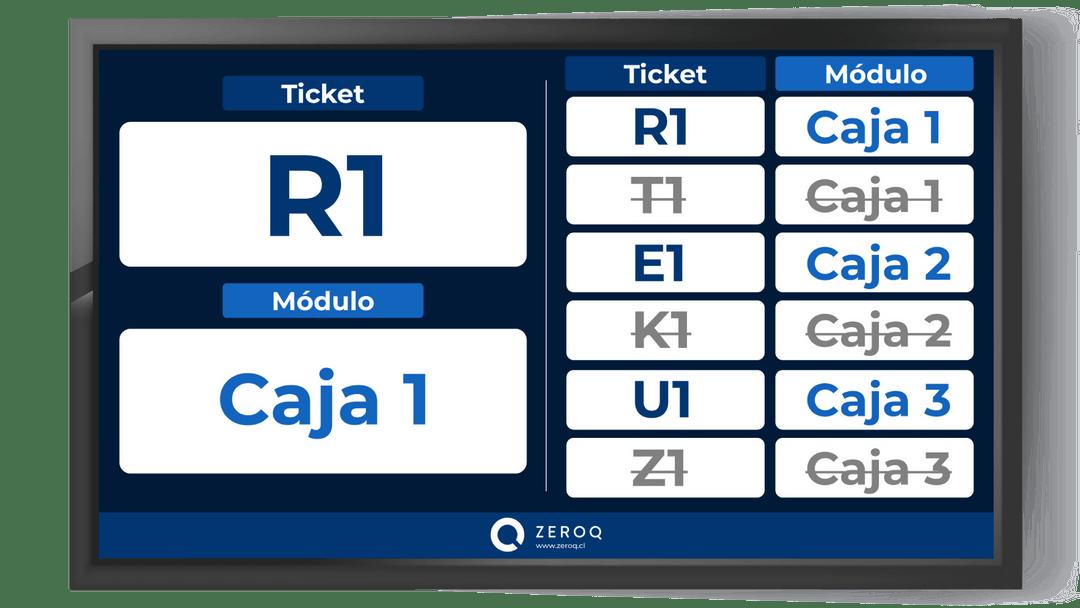 Número de ticket y caja