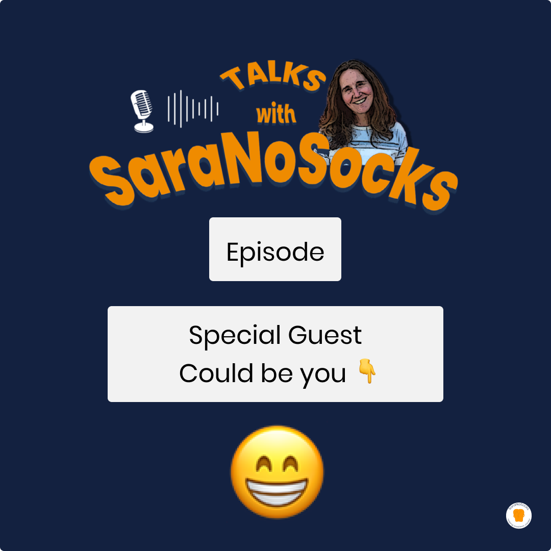 Talks with SaraNoSocks Guest cover art example