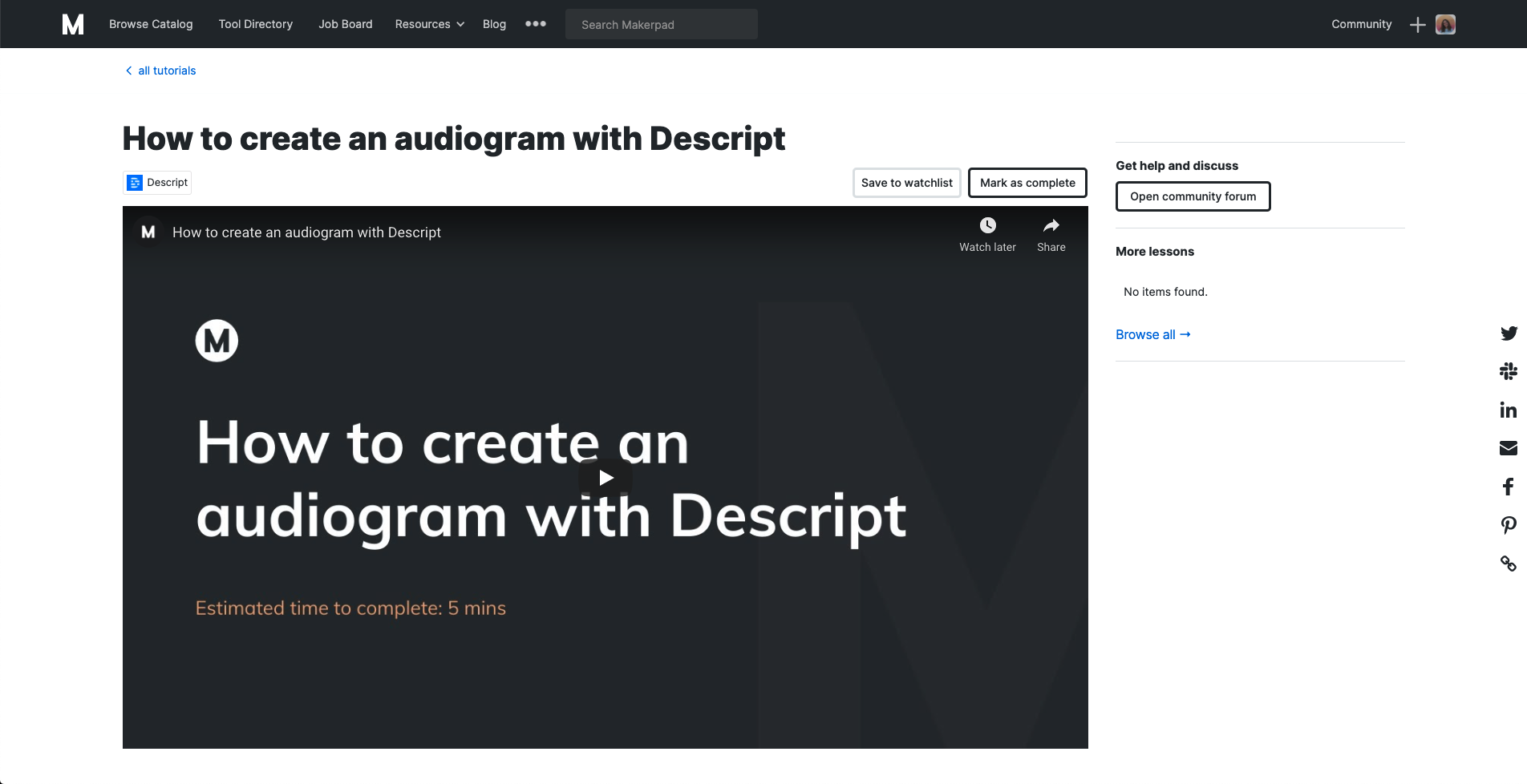How to create an audiogram with Descript