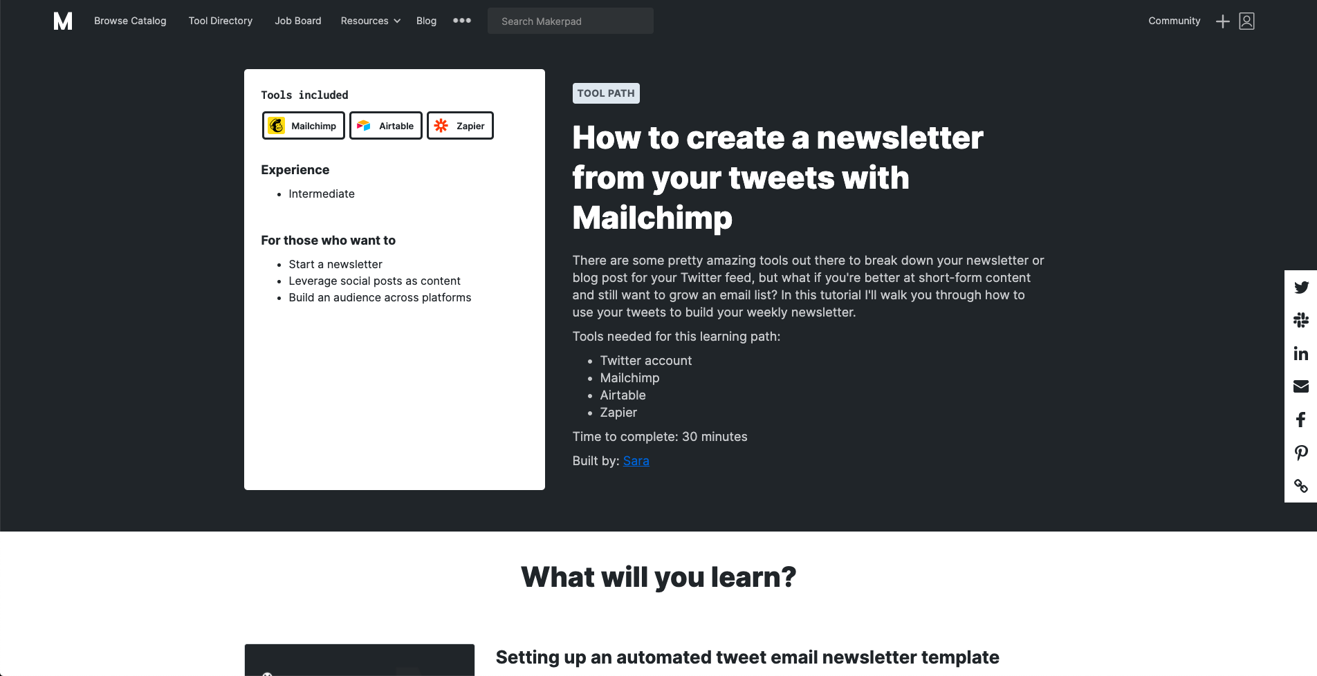 Create a newsletter from your tweets with Mailchimp