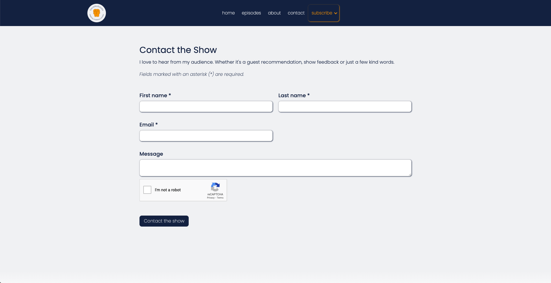 Talks with SaraNoSocks contact form