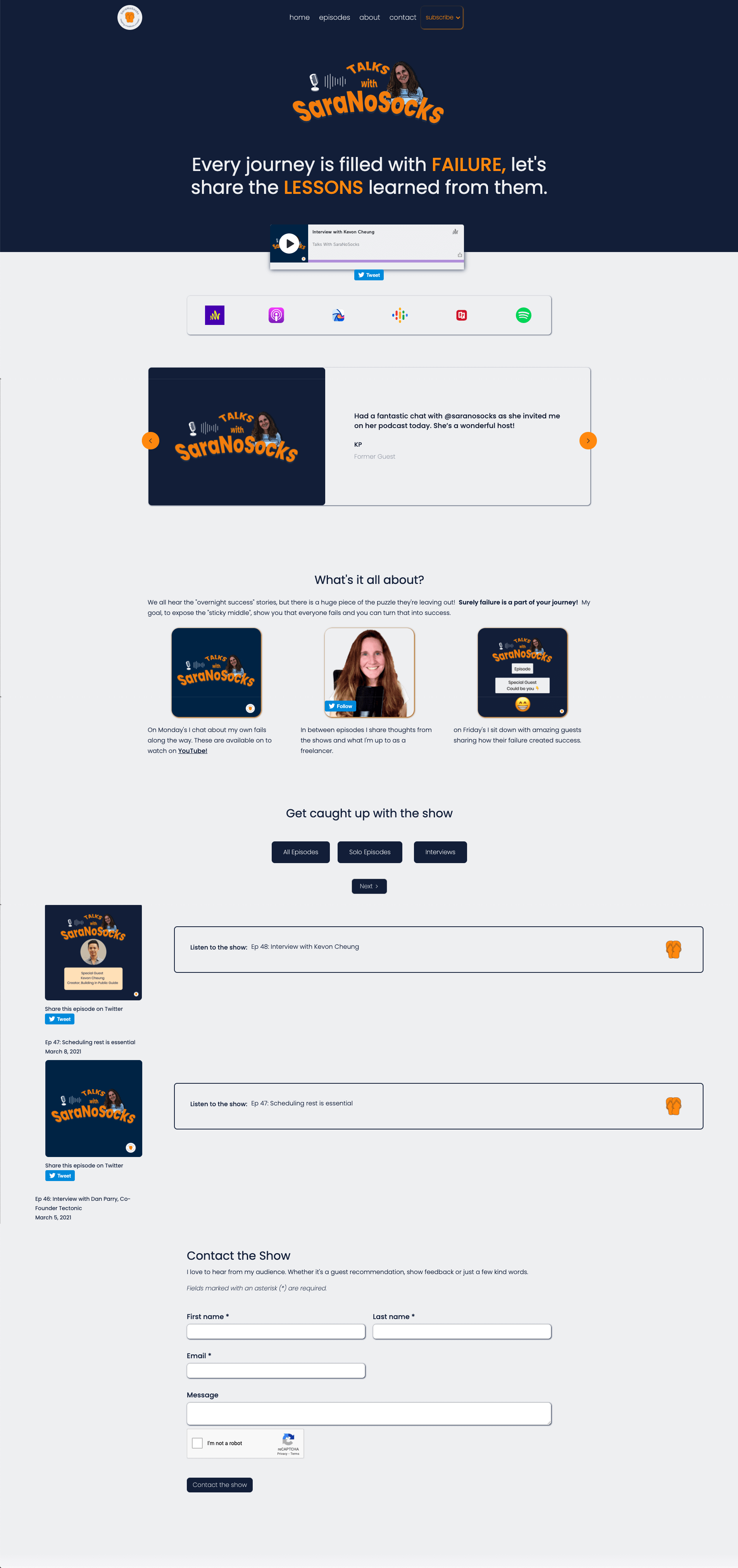 The Podcast template is a basic landing page an automated Webflow collection list to display most recent episodes.