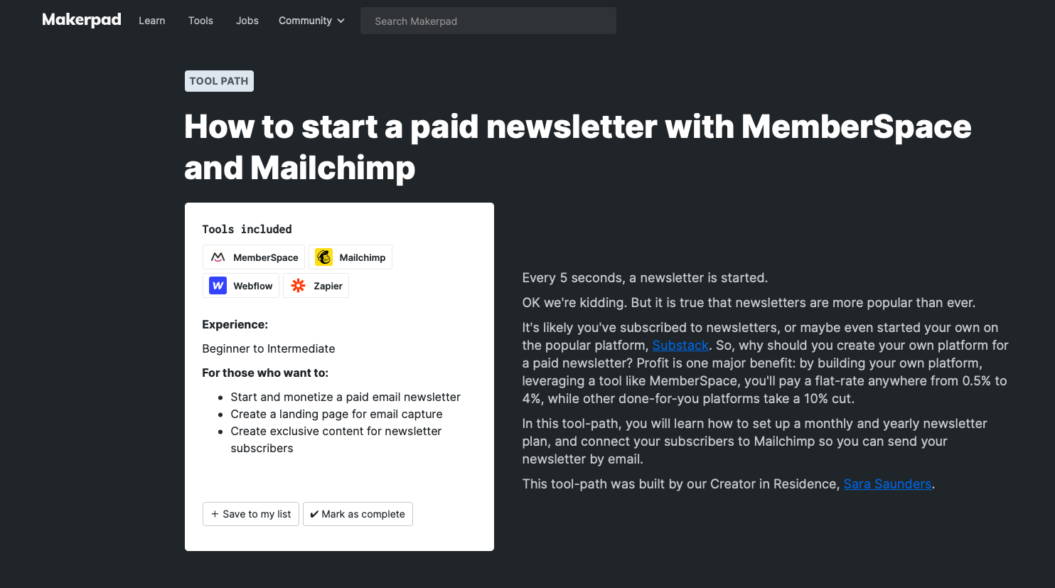 How to start a paid newsletter with MemberSpace and Mailchimp