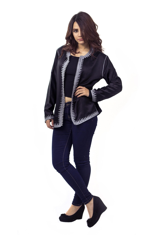 Zwart grijze tuniek