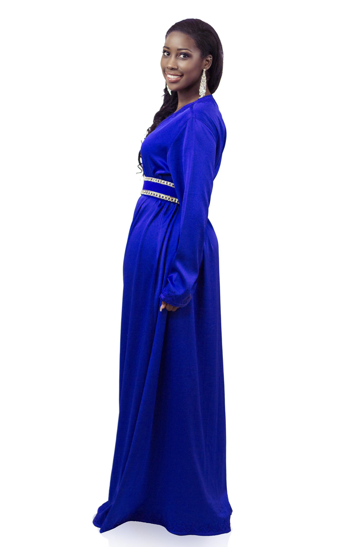 Blauwe djellaba
